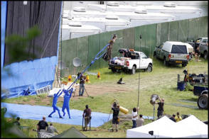 Angelina Jolie is flying : Maleficent (2014) - Behind the Scenes photos