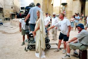 On set of Troy (2004)