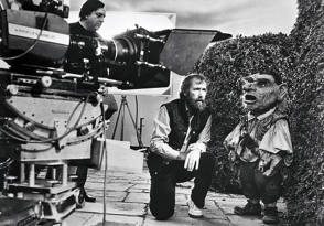 Jim Henson with Hoggle - Behind the Scenes photos