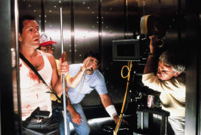 On set of Die Hard (1988) - Behind the Scenes photos