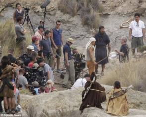 Christian Bale as Moses - Behind the Scenes photos