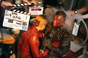 Arnold and Kristanna : Terminator 3 (2003) - Behind the Scenes photos