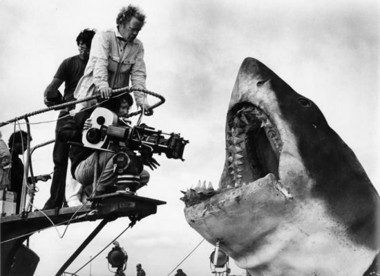 Behind the scenes photo of  Jaws 1975 Behind the Scenes
