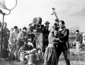 Behind the scenes photo of The Horse Soldiers 1959