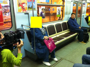 Filming Kvadrat in Saint Petersburg Metro RU - Behind the Scenes photos