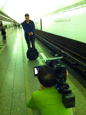 Filming Kvadrat in Saint Petersburg Metro RU