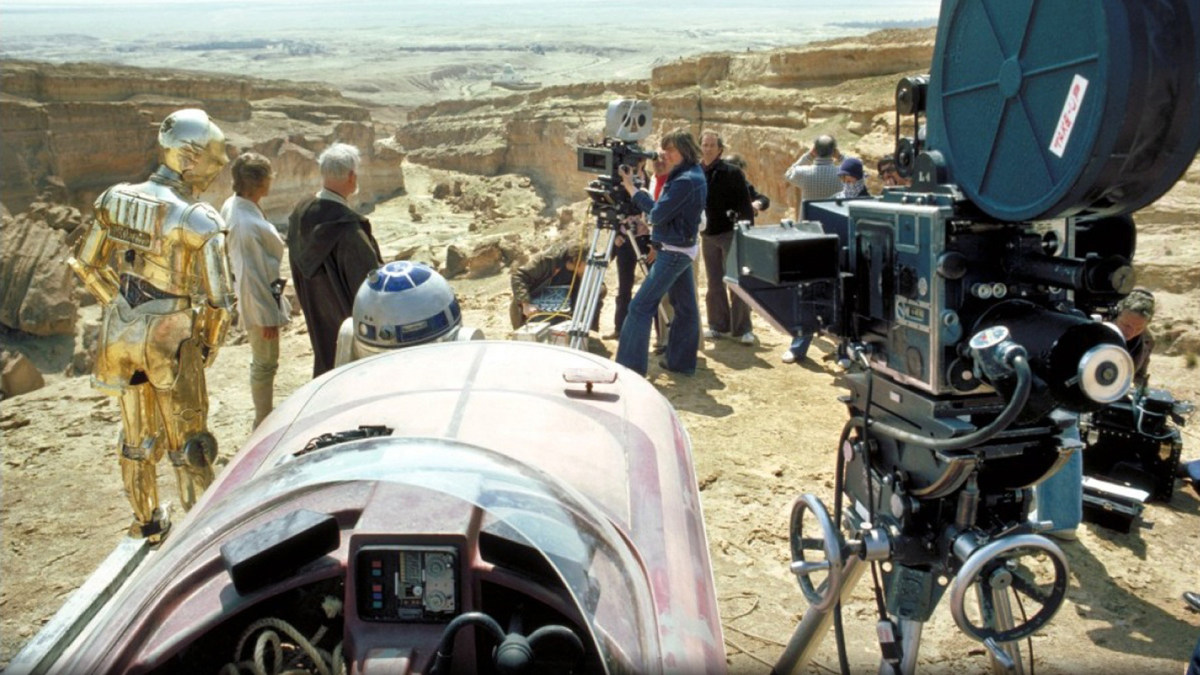 Ready to Film Star Wars (1977) Behind the Scenes