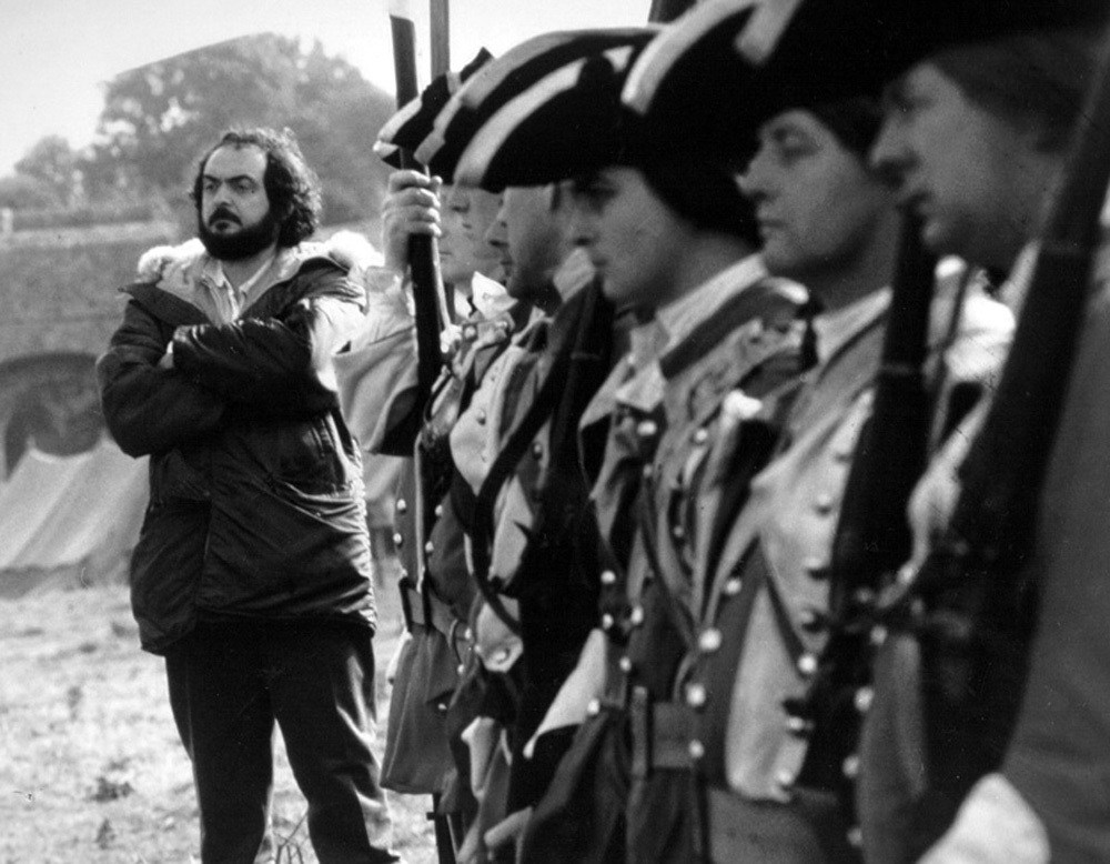 Stanley Kubrick with Soldiers Behind the Scenes