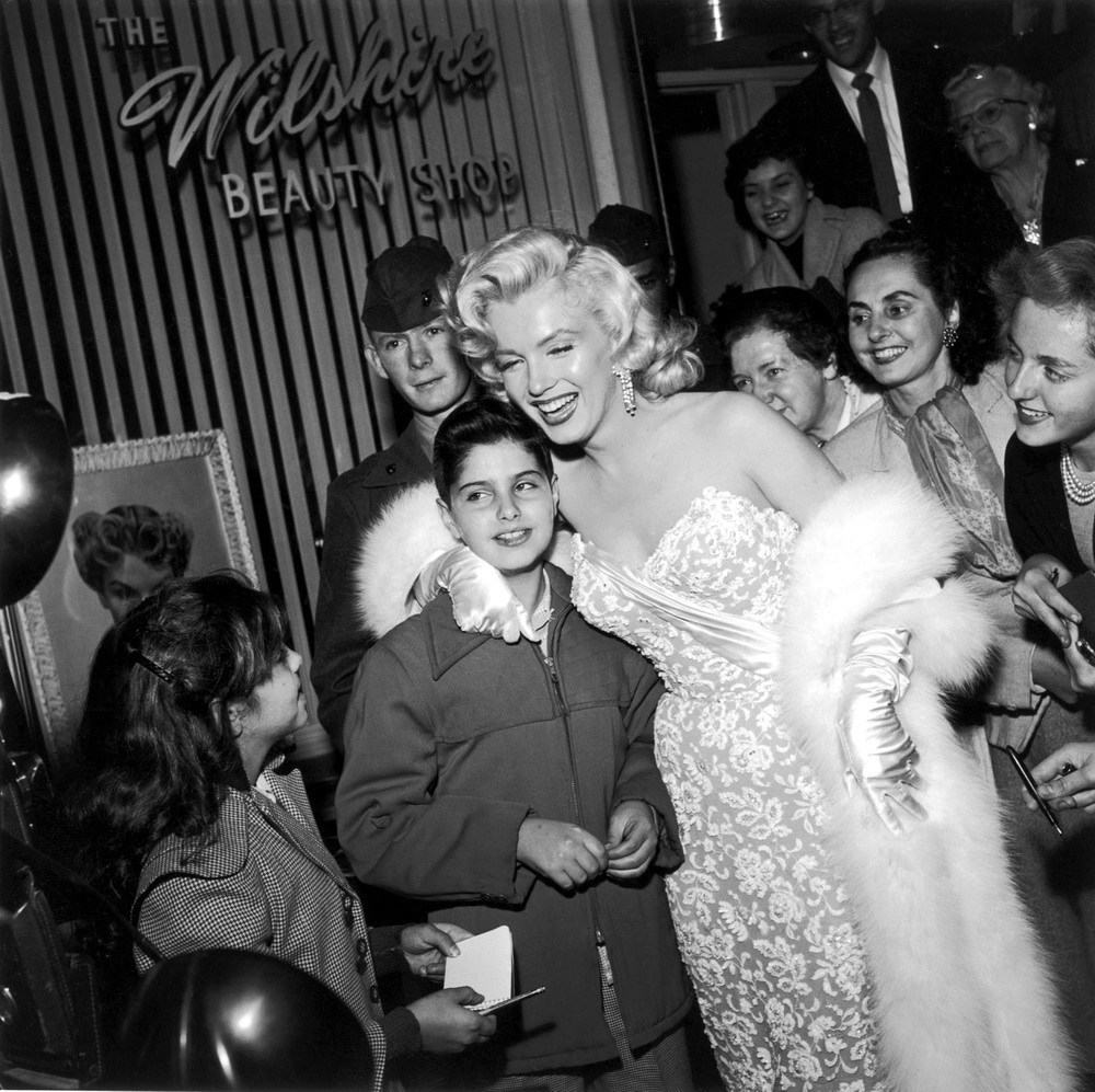 Marilyn Monroe with Her Step Son Behind the Scenes