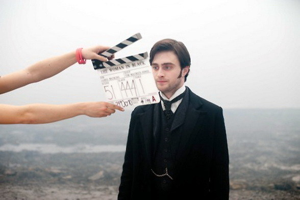 Daniel Radcliffe as Arthur Kipps Behind the Scenes