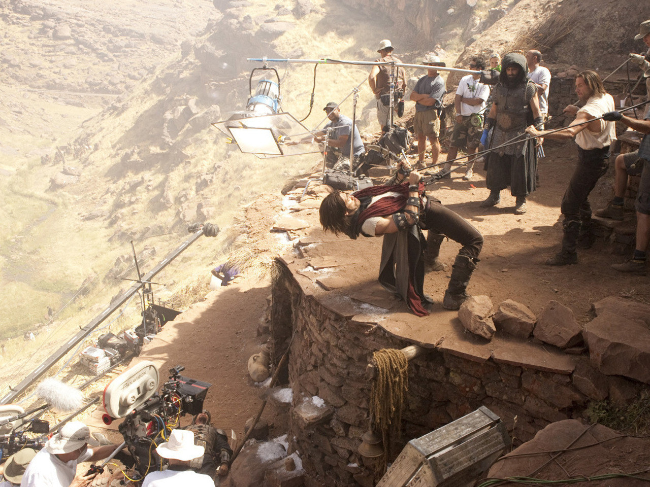 Prince of Persia: The Sands of Time Behind the Scenes Photos & Tech Specs