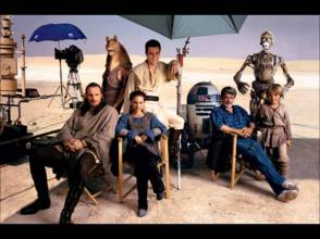 On the Set of The Phantom Menace (1999) - Behind the Scenes photos