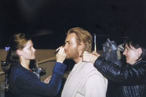Ewan McGregor in Star Wars Episode II (2002) - Behind the Scenes photos