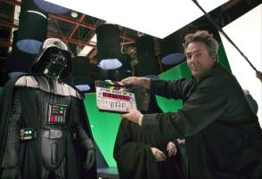 Rick Mccullum with a Clapper Board - Behind the Scenes photos