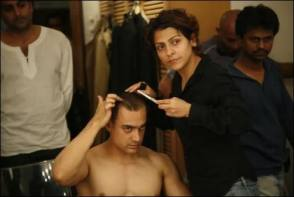 Aamir Khan : Ghajini (2008) - Behind the Scenes photos