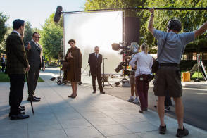 Filming Saving Mr. Banks (2013) - Behind the Scenes photos