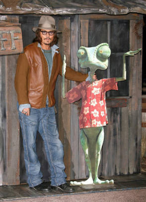 Johnny Depp as Rango - Behind the Scenes photos