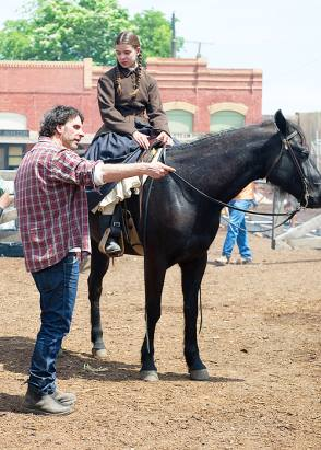 Joel with Hailee : True Grit (2010) - Behind the Scenes photos