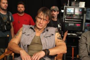 Dolph Lundgren on the Set