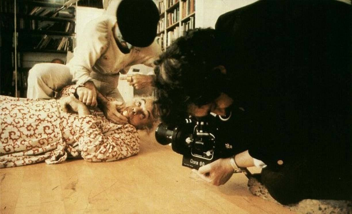 A Scene from the film A Clockwork Orange (1971) Behind the Scenes