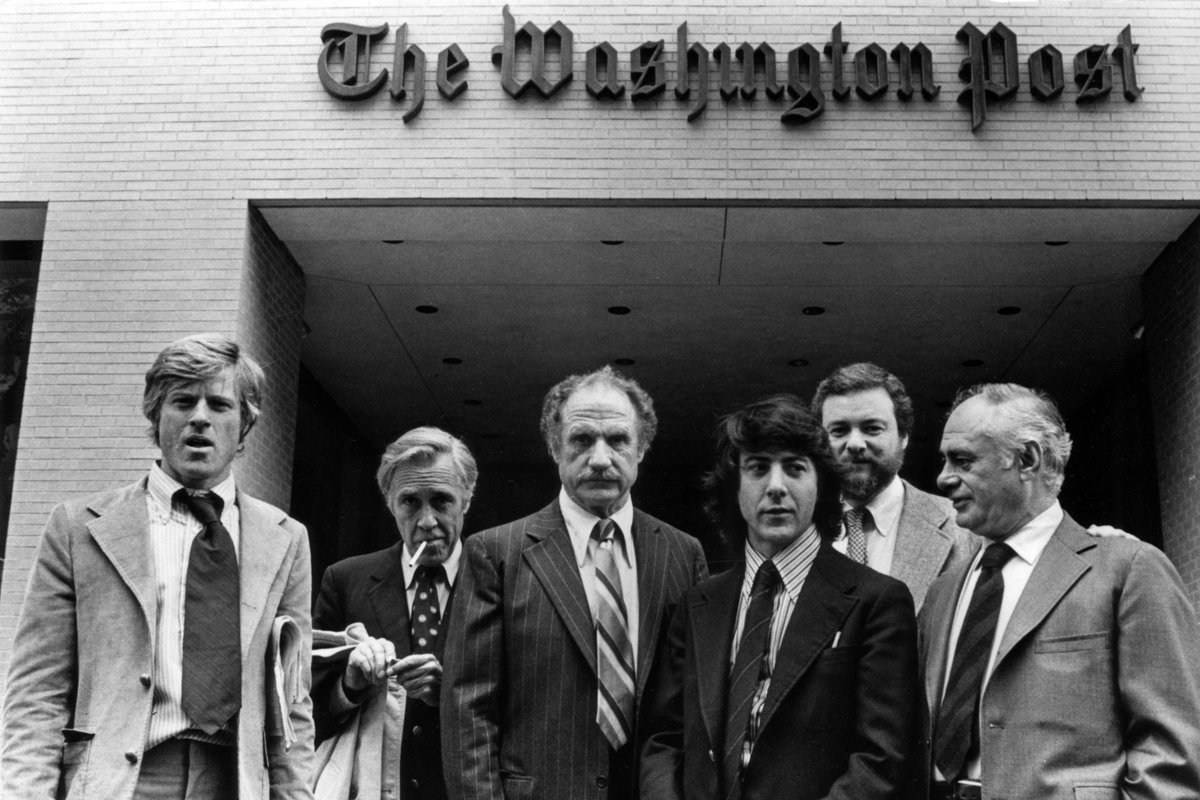 Actors with the director : All The President's Men (1976) Behind the Scenes