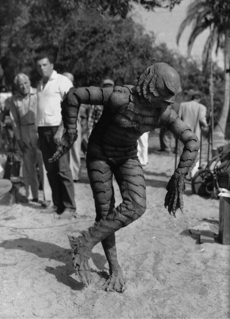 A Dancing Monster on the Set Behind the Scenes