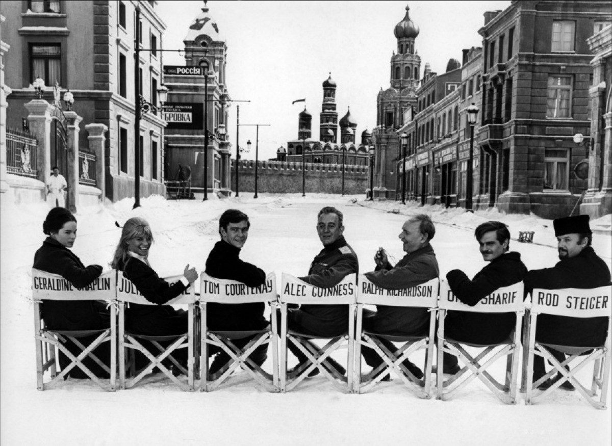 From the Film Doctor Zhivago (1965) Behind the Scenes