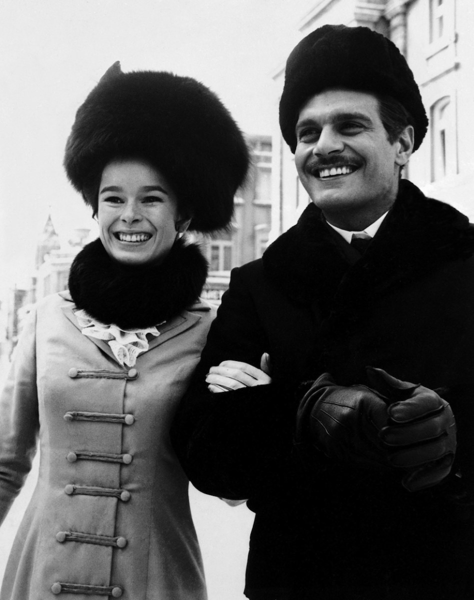 Geraldine with Omar : Doctor Zhivago (1965) Behind the Scenes