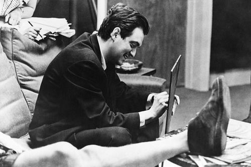 Stanley Kubrick Smiles Behind the Scenes