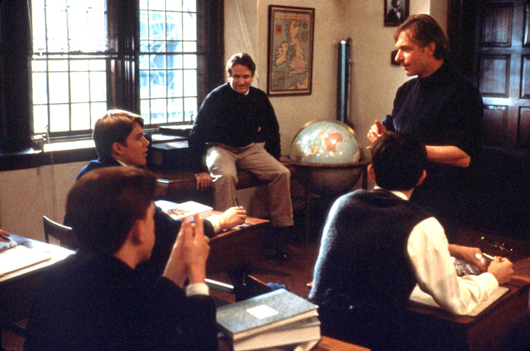 From the Film Dead Poets Society (1989) Behind the Scenes