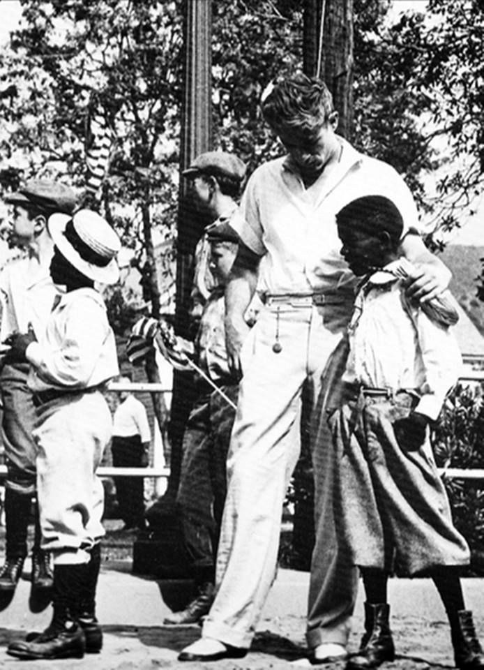 James Dean with Some Children on the Set Behind the Scenes