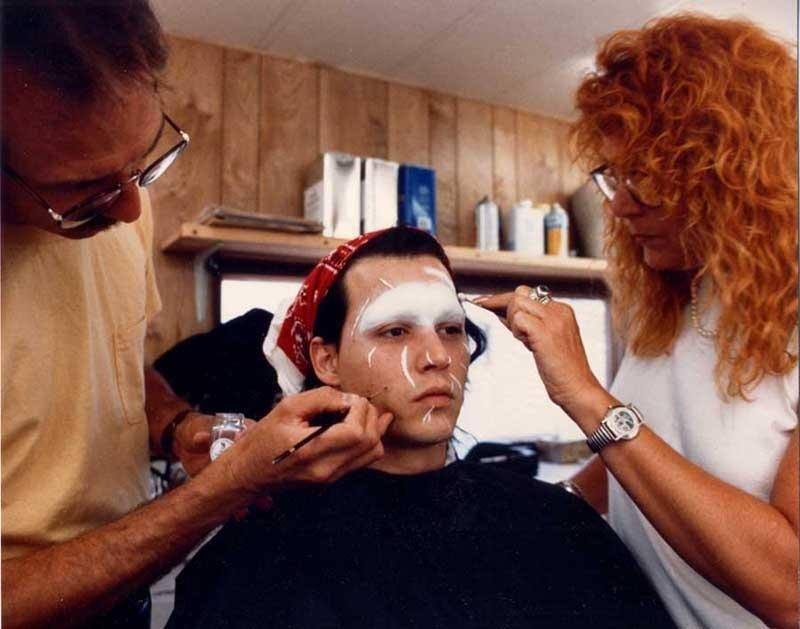 Johnny Depp at the Makeup Room Behind the Scenes