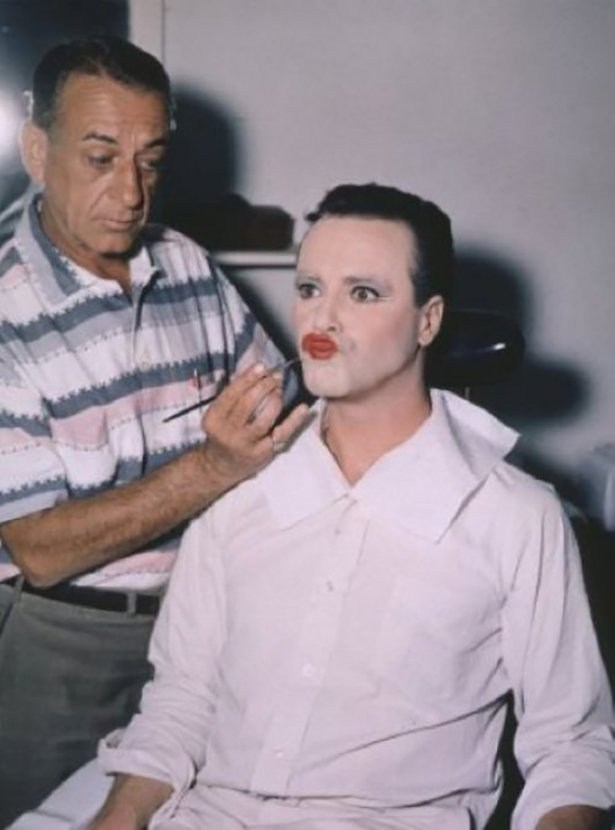 In the Makeup Chair Behind the Scenes