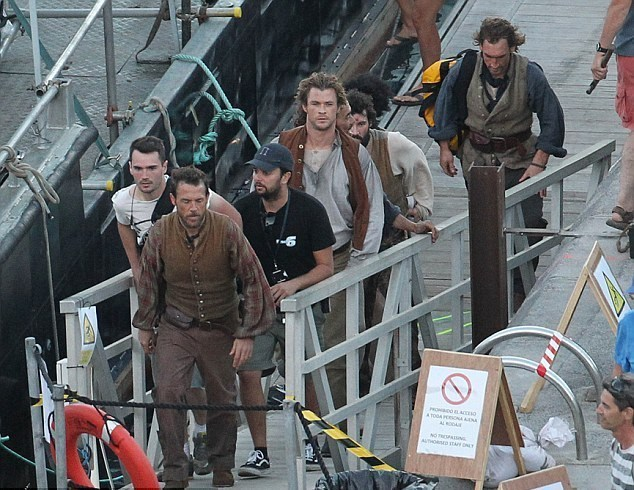 A Production Still : In the Heart of the Sea (2015) Behind the Scenes