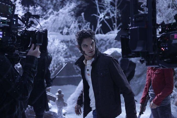 Tyler Posey in Teen Wolf (2011) Behind the Scenes