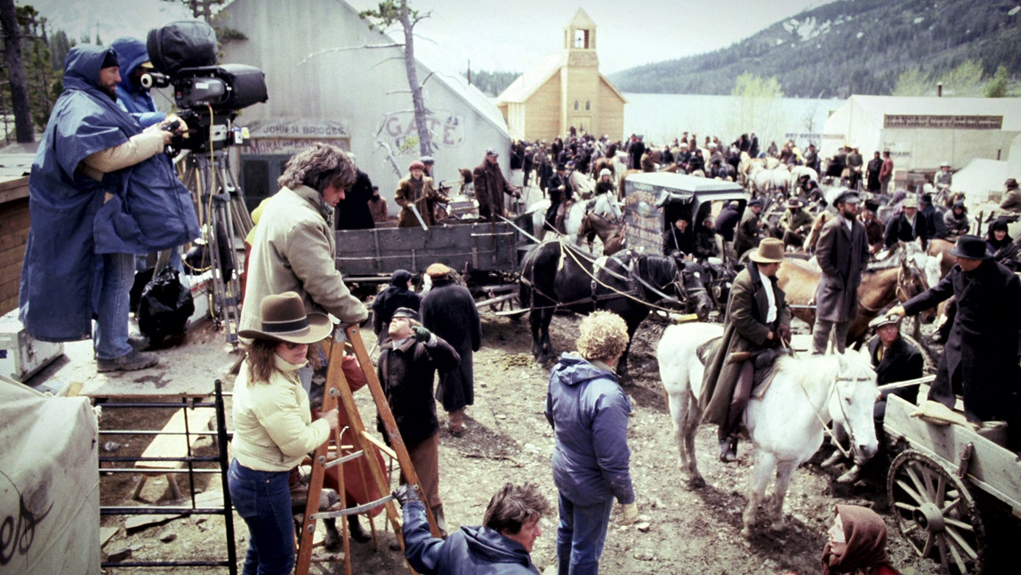 From the Film Heaven's Gate (1980) Behind the Scenes