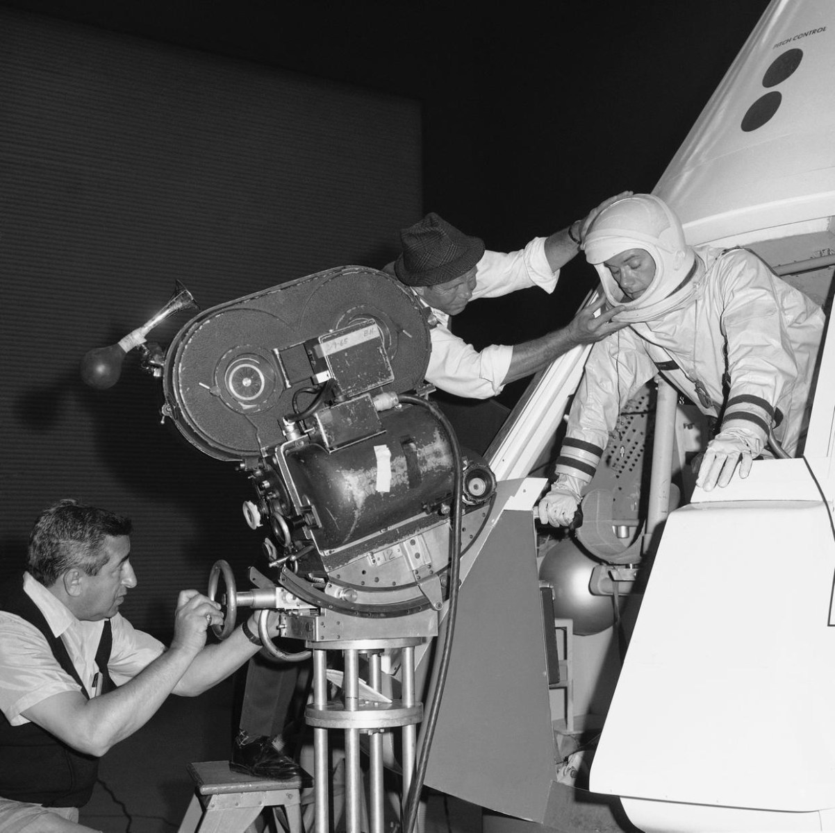 Larry Hagman as an Astronaut Behind the Scenes