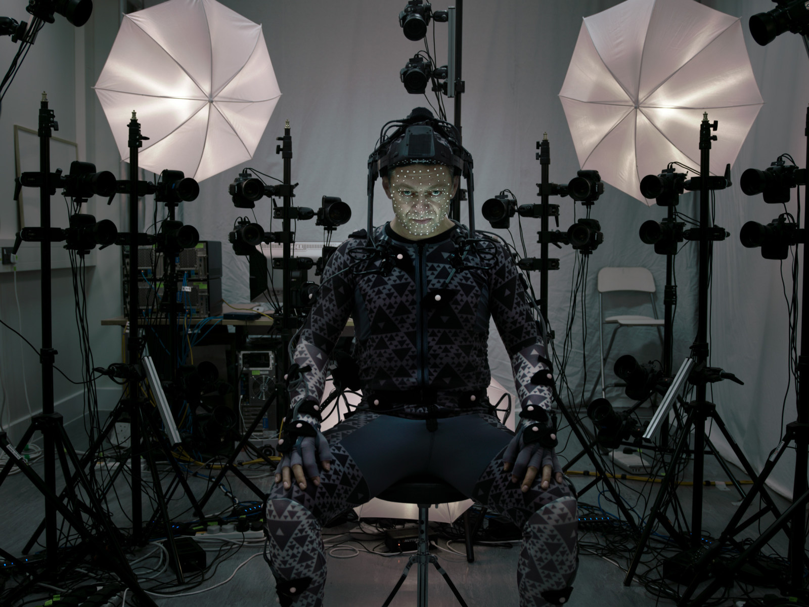 Andy as Supreme Leader Snoke Behind the Scenes