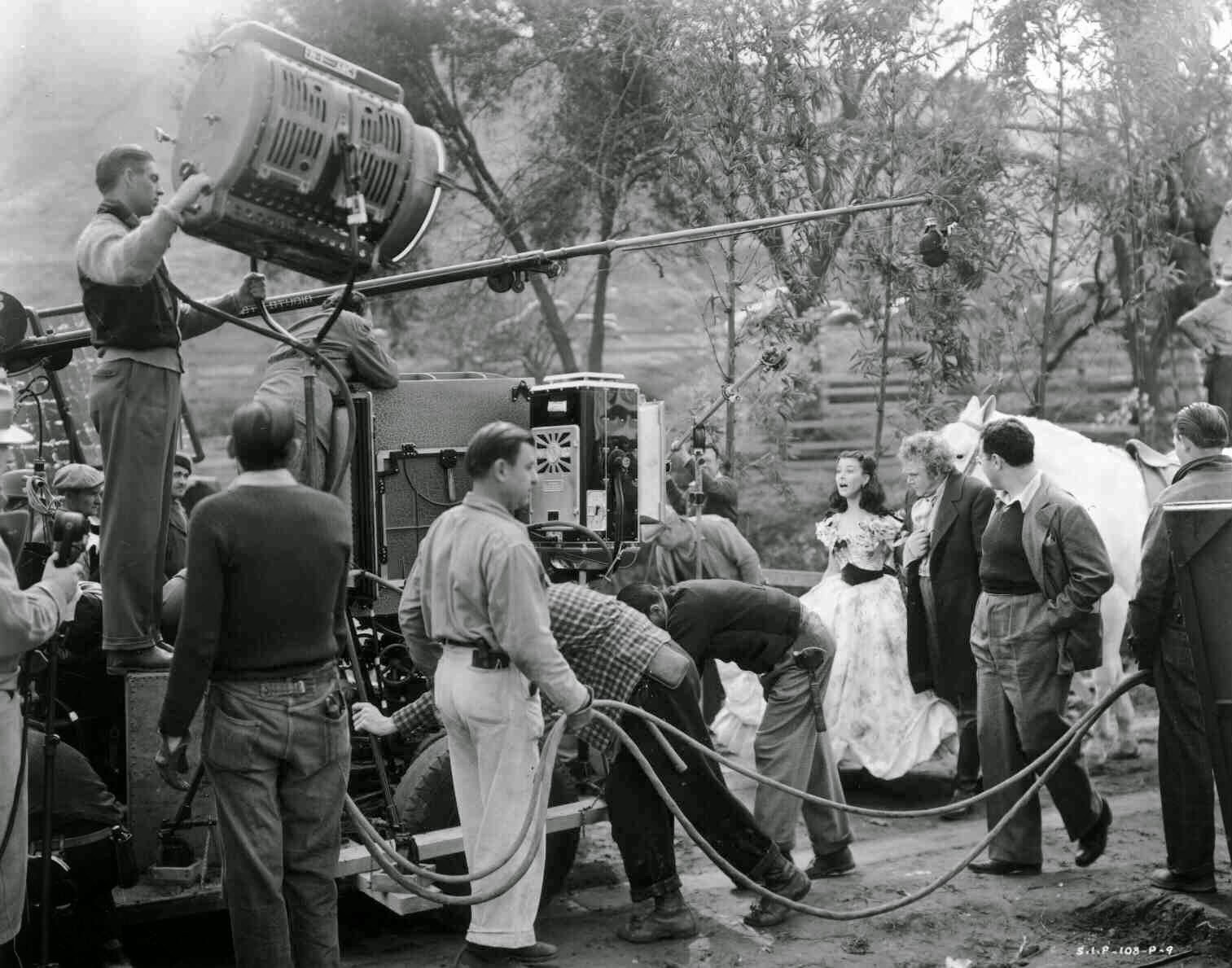 Filming Gone with the Wind (1939) Behind the Scenes