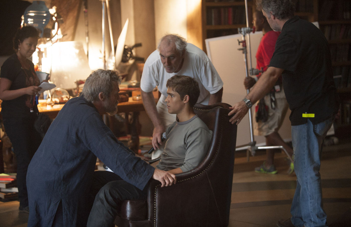 On Set of The Giver (2014) Behind the Scenes