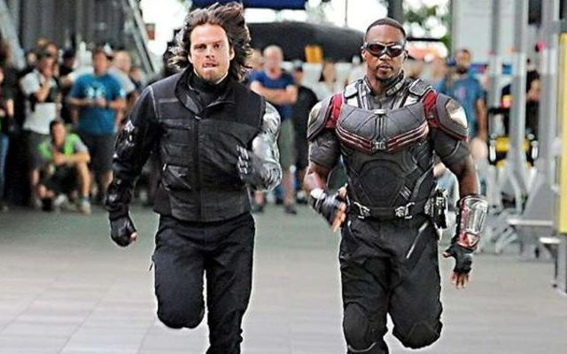 Winter Soldier and Falcon Run on the Set Behind the Scenes