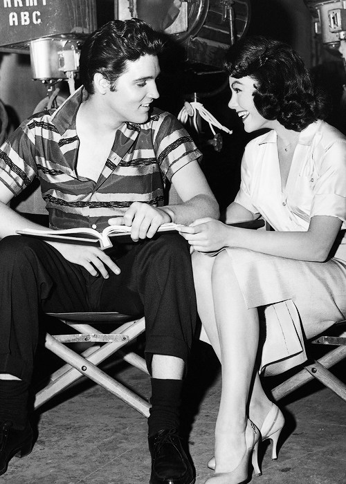 Elvis and Judy Behind the Scenes