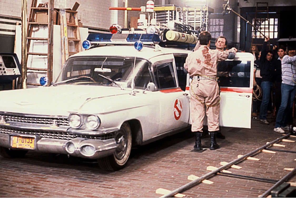 Bill and Dan in Ghostbusters (1984) Behind the Scenes