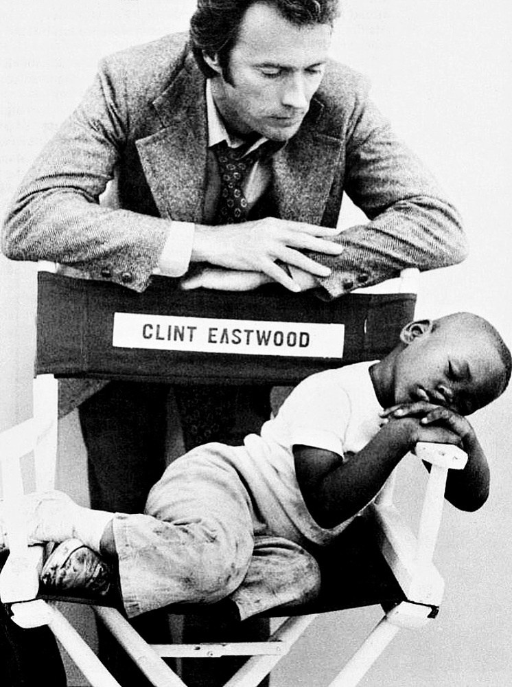 Clint Eastwood and the Sleeping Boy Behind the Scenes