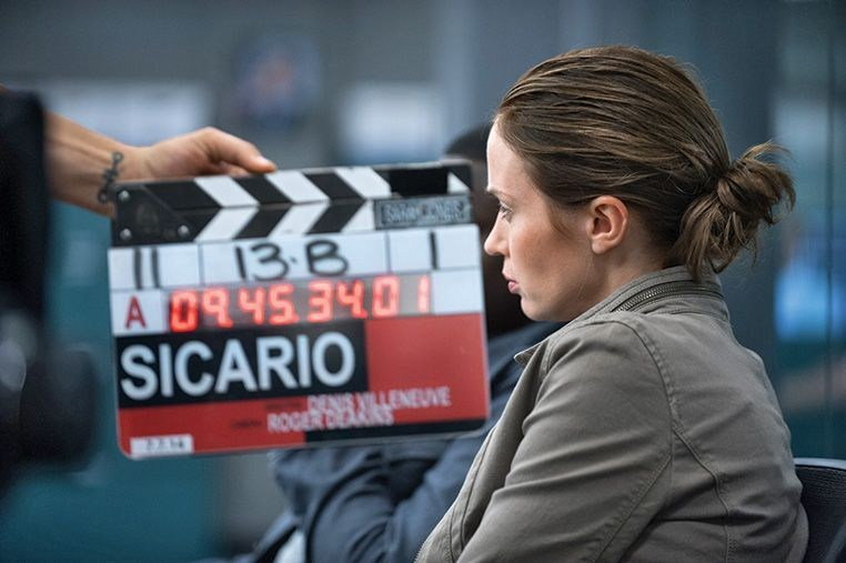Emily Blunt as Kate Macer Behind the Scenes