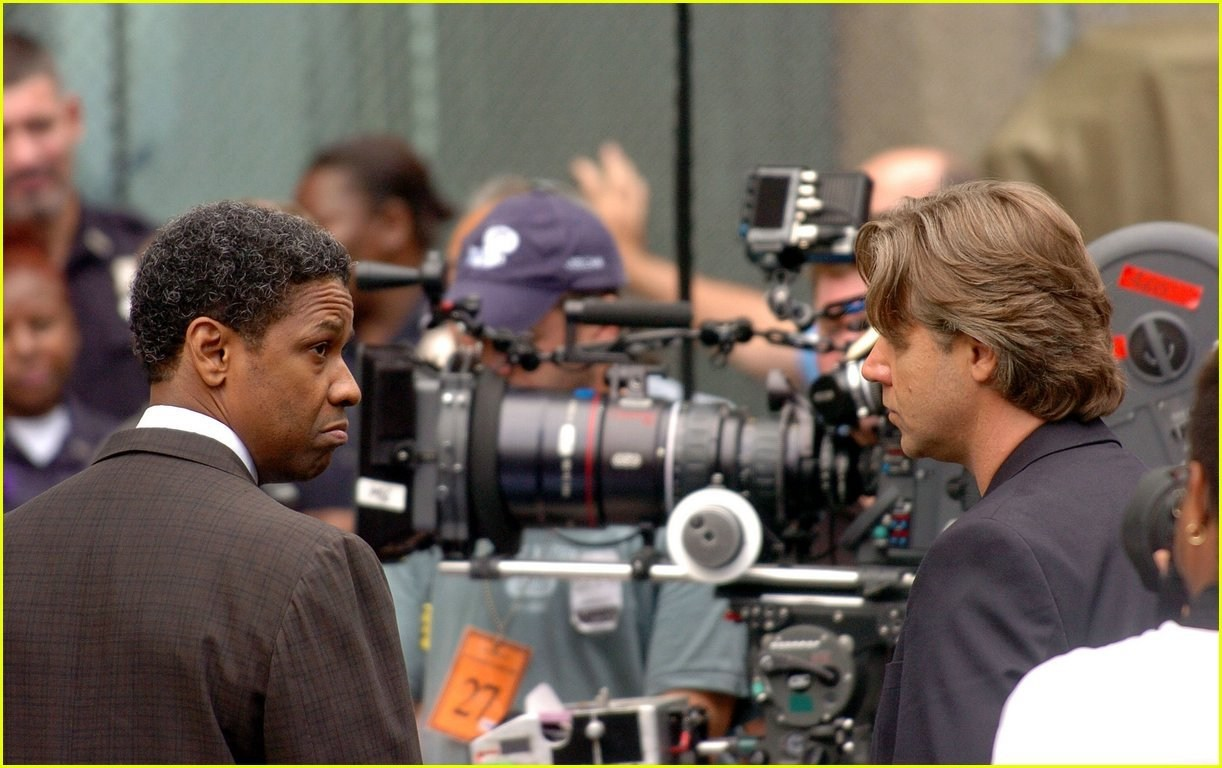 Denzel and Russel Behind the Scenes