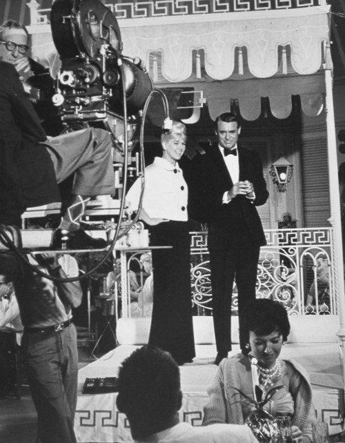Doris Day and Cary Grant Behind the Scenes