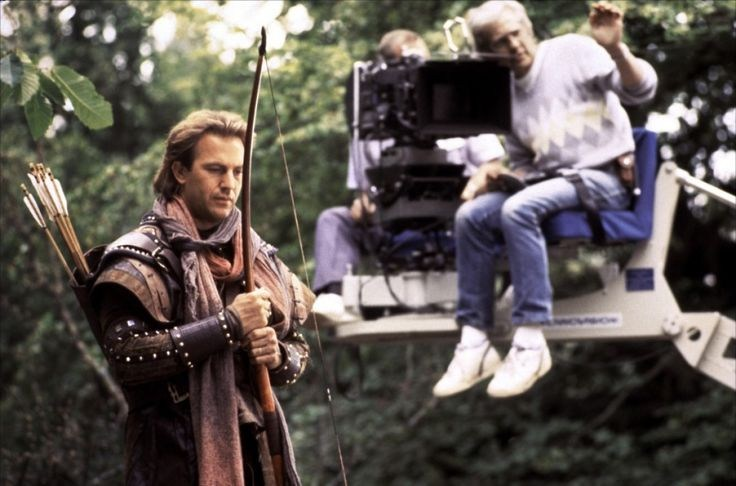 Kevin Costner as Robin Hood Behind the Scenes