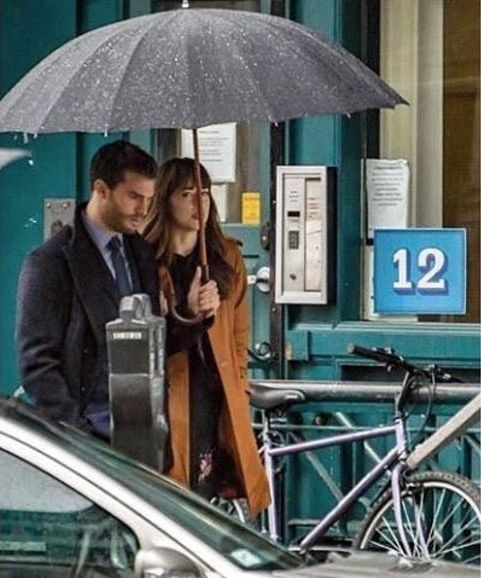Jamie and Dakota Behind the Scenes