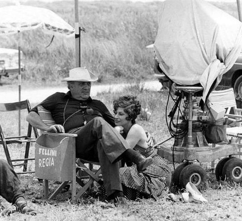 Fellini and Magali Behind the Scenes